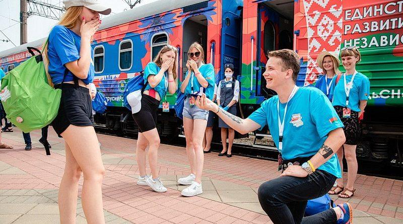Студент из Клецка попал в республиканский проект «Молодежный поезд»